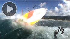 Kitesurfing strapless aerial 360 handle pass copie