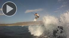 Reo Stevens and Keahi De Aboitiz kitesurf Indo GoPro HD copie