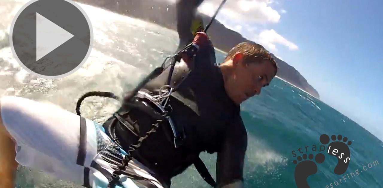 Reo Stevens kitesurfing in Hawaii GoProHD Strapless Kitesurfing copie