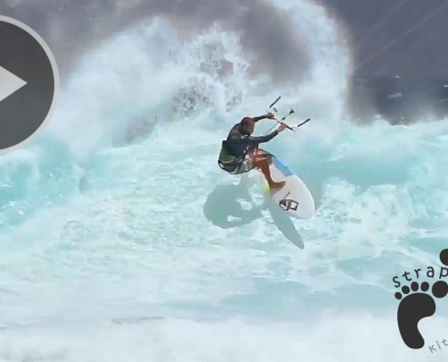 Stephan Figueiredo chasing down barrels with Blade Kiteboarding copie
