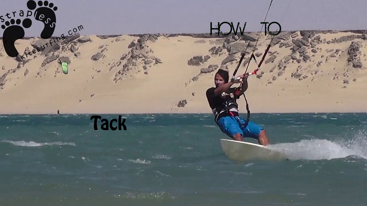 Tuto strapless kitesurfing - how to tack copie
