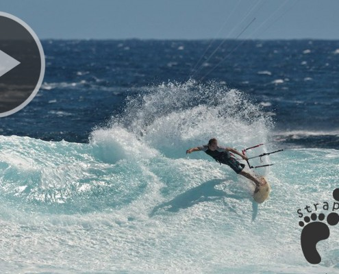 Kitesurfing Strapless On big WaVes in - The Indian ocean