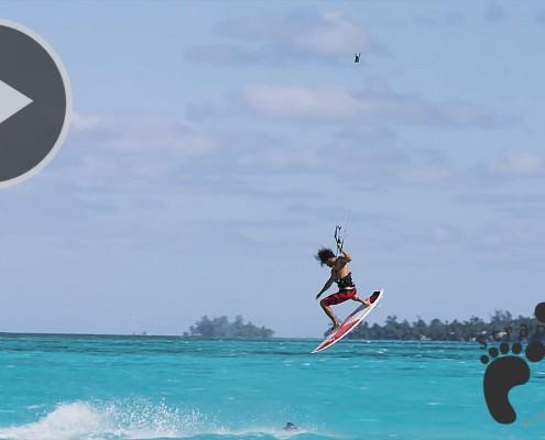 Strapless Kitesurfing in Moorea  Niccolo Porcella