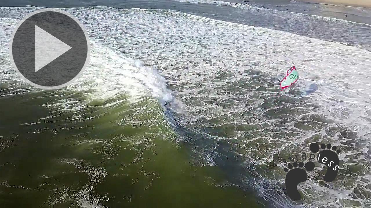 North of Portugal Strapless Kitesurfing with Nuno Stru