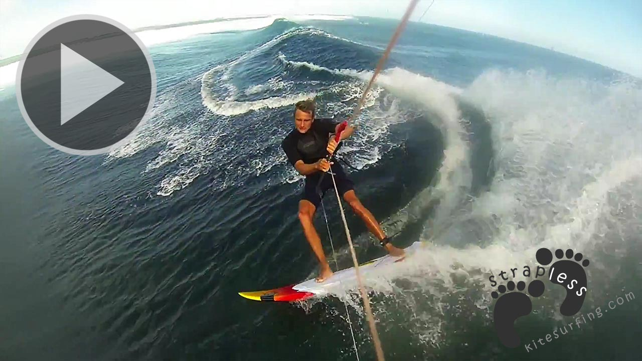 Strapless kitesurfing in Mauritius One Eye and the North shore of Zeeland