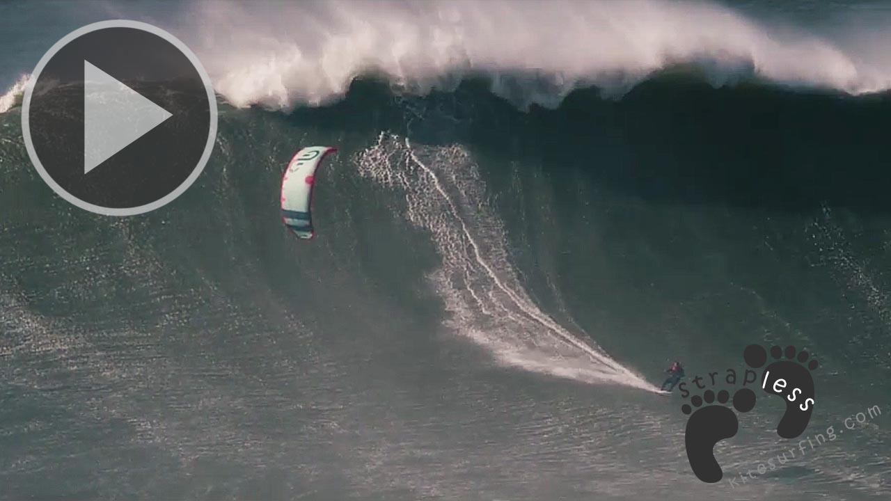 Guinness World Record Largest wave kitesurfed - Nuno Stru