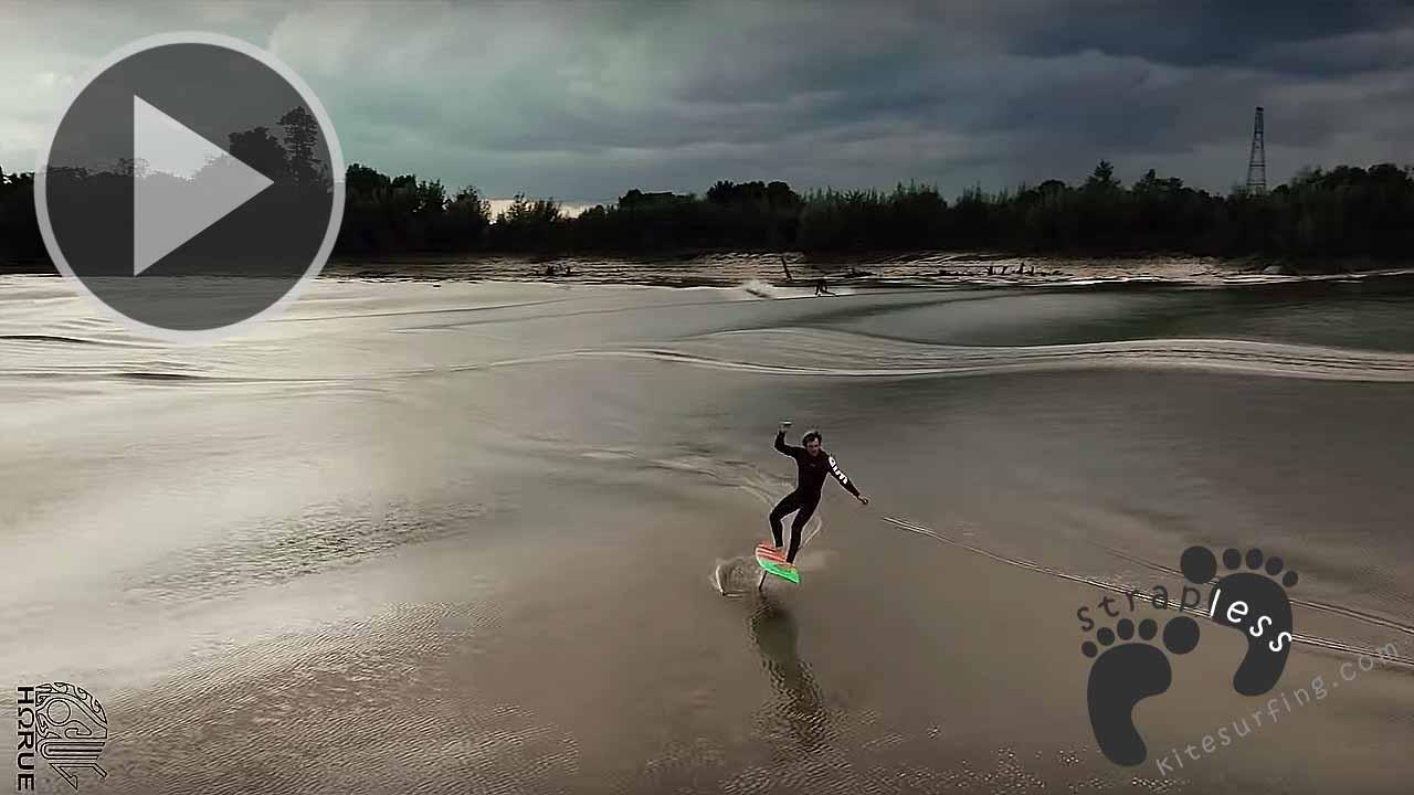 Amazing Tidal Bore Foil Surfing MASCARET