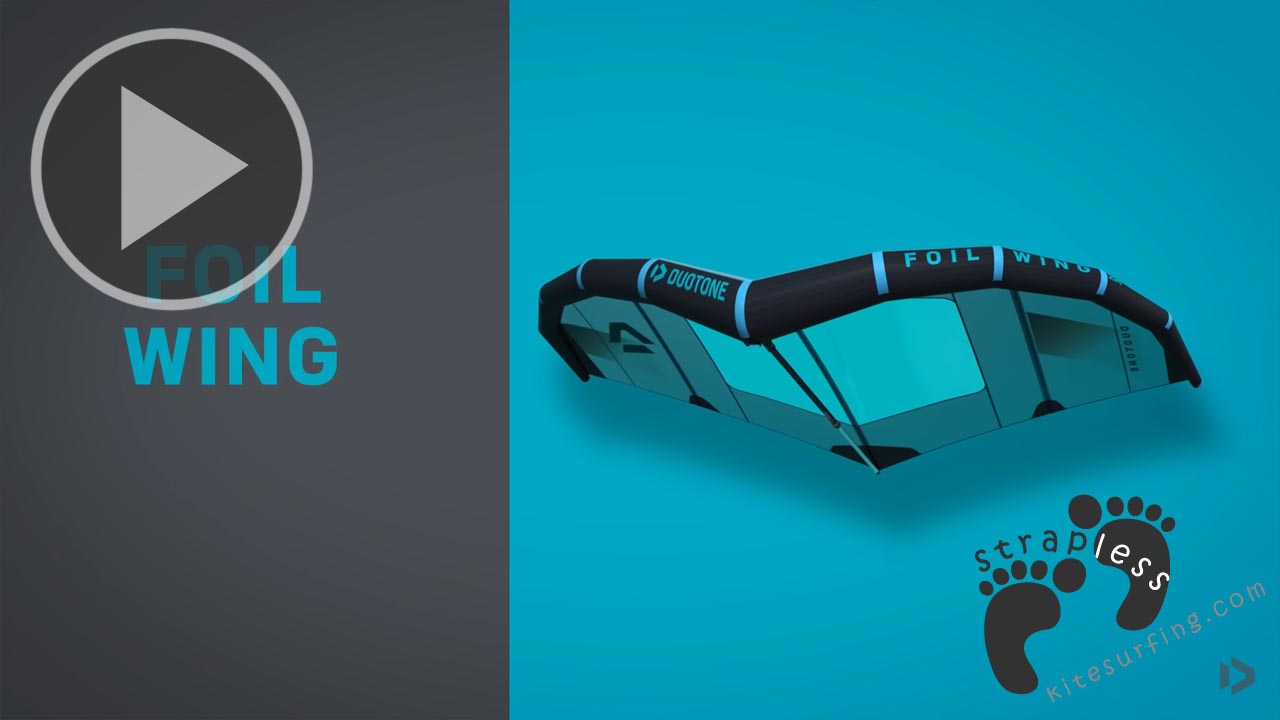 Duotone Foil Wing Product Clip // strapless kitesurfing - Strapless